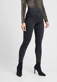 Topshop Petite - JONI CLEAN - Jeans Skinny Fit - black - 0