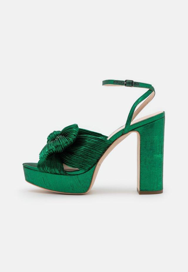NATALIA - Sandály na vysokém podpatku - emerald