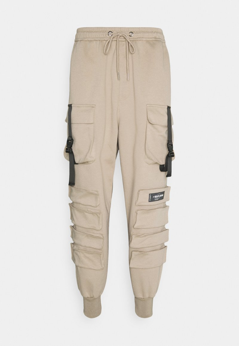 Sixth June - FRONT BUCKLE POCKET PANT - Cargo trousers - beige