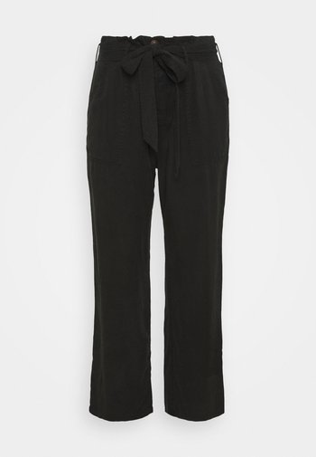 SOFT WIDE LEG PANT - Bukse - washed black