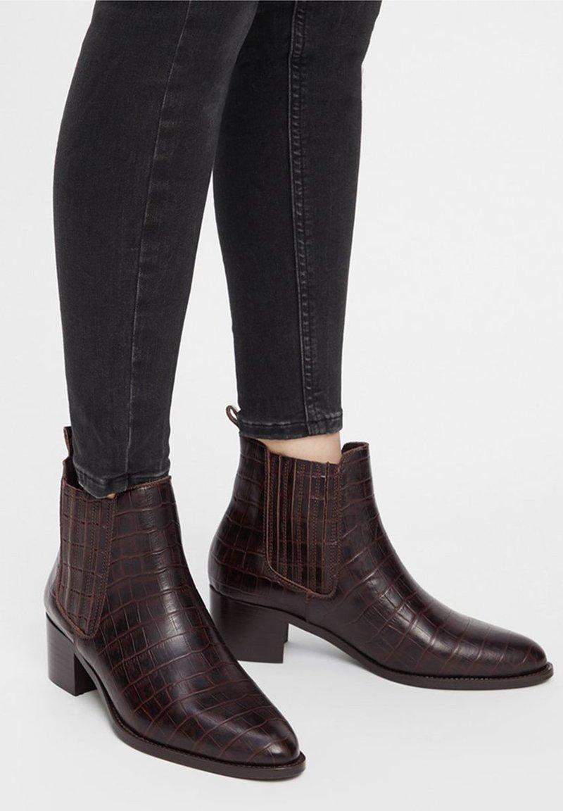 Bianco - BIACAROL  - Classic ankle boots - darkbrown