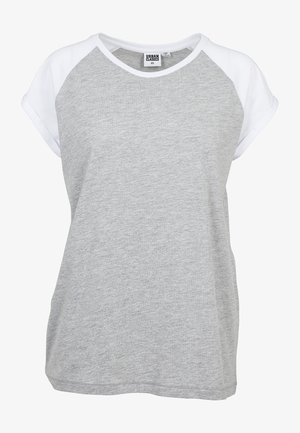 CONTRAST RAGLAN TEE - Print T-shirt - grey/white