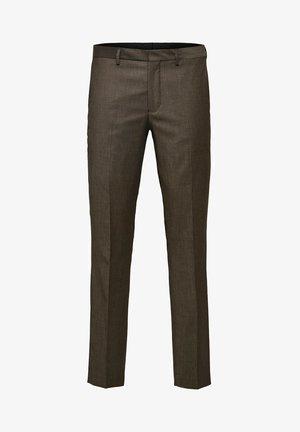 SLIM FIT - Pantaloni eleganti - camel