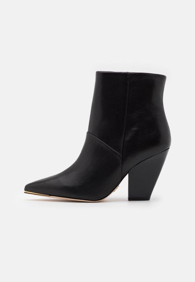 LILA ZIP UP - Kotníková obuv na vysokém podpatku - perfect black