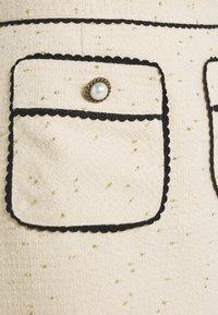 Sister Jane - TIE BREAK TWEED MINI SKIRT - Mini skirt - beige - 4