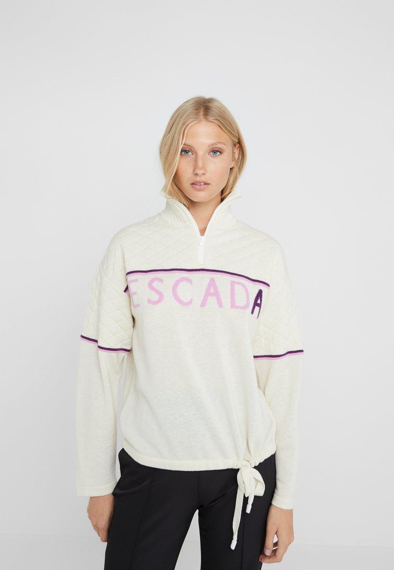 Escada Sport - LAVANDA - Stickad tröja - white