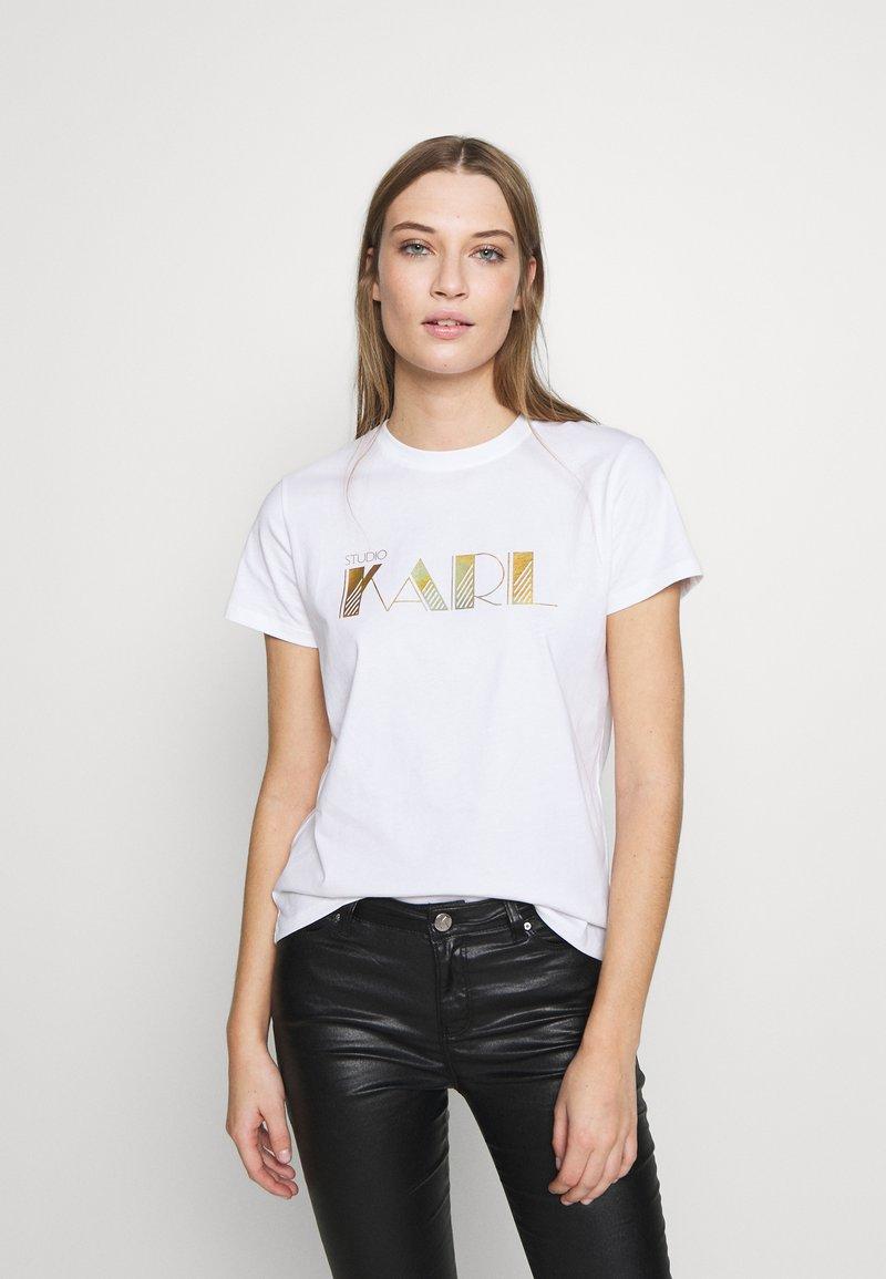 KARL LAGERFELD - LOGO - T-shirts med print - white