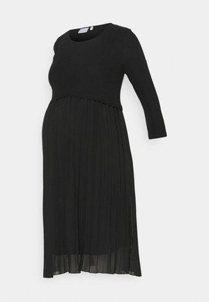 MLRAINA JUNE MIX KNEE DRESS - Trikoomekko - black