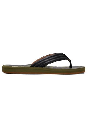 CARVER PRINT - Pool shoes - black/grey