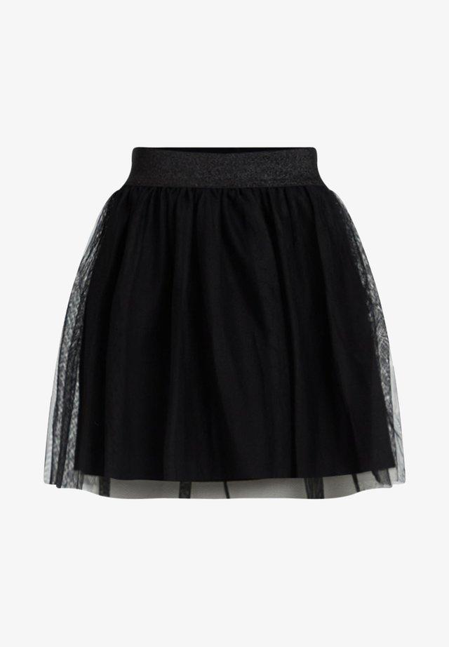 MEISJES TULE - Minifalda - black