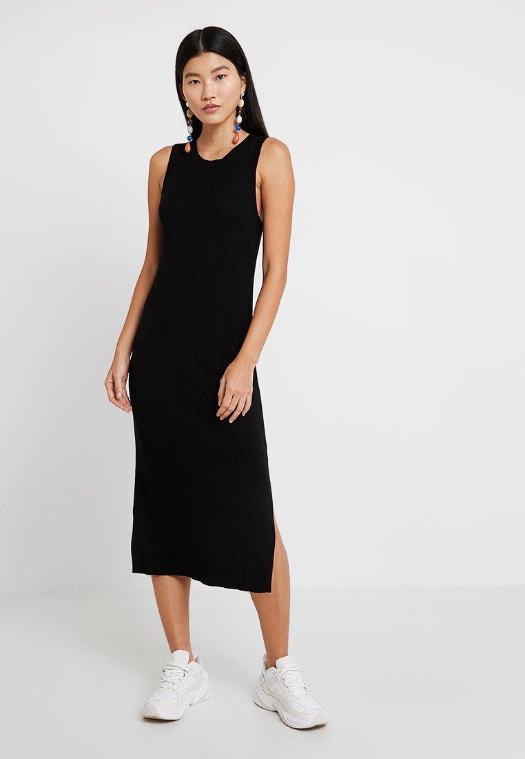 Banana Republic - SWEATER RIB SOLID COLUMN DRESS - Jumper dress - black