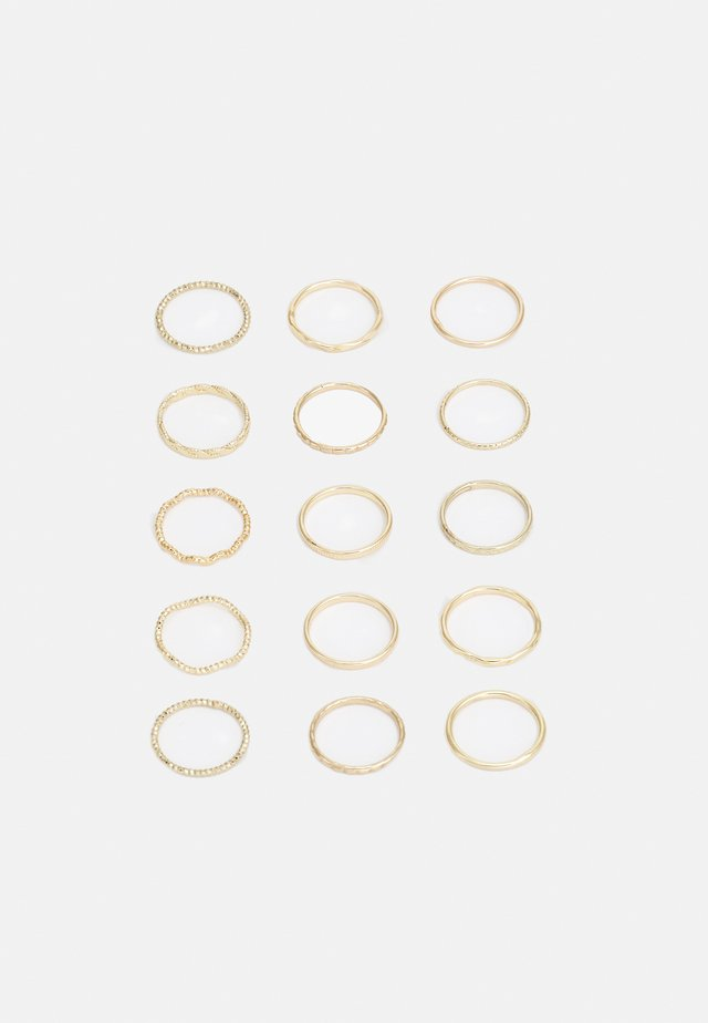 15 PACK  - Ringe - gold-coloured