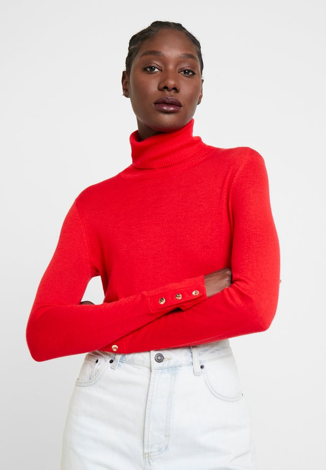 TURTLENECK - Strikkegenser - red