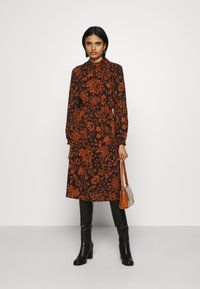 ONLY - ONLNOVA LUX SMOCK BELOW KNEE DRESS - Day dress - black - 1