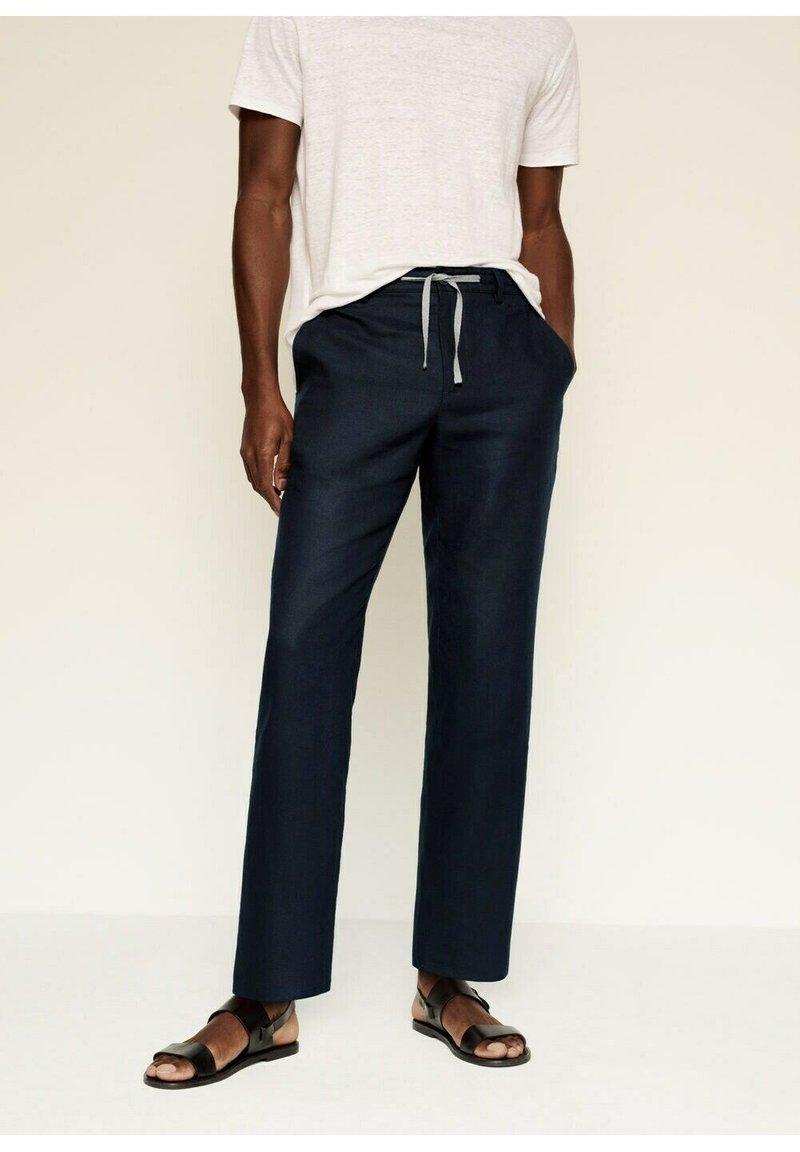 Mango - Trousers - dunkles marineblau