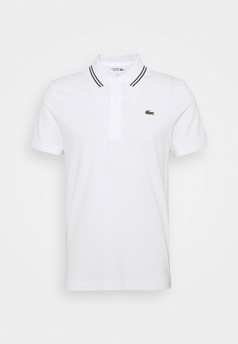 Lacoste Sport - DETAILED COLLAR - Poloshirt - white/black