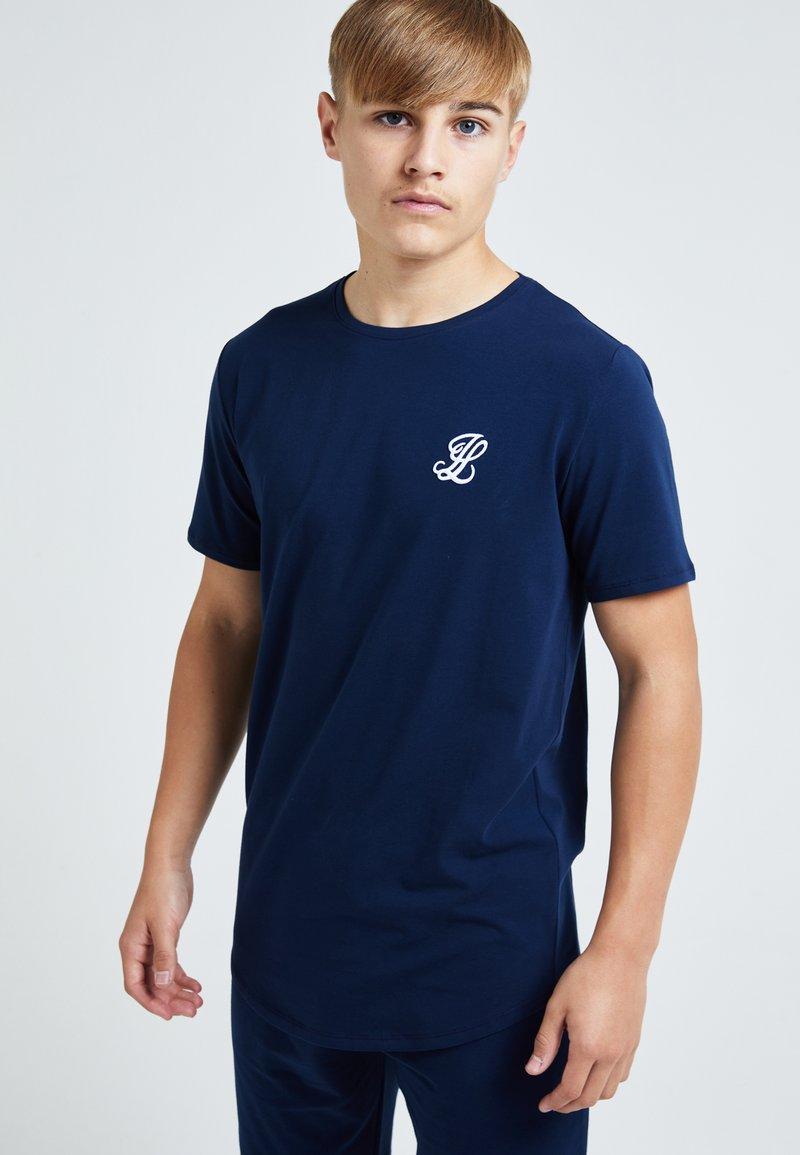 Illusive London Juniors - ILLUSIVE LONDON - Basic T-shirt - navy