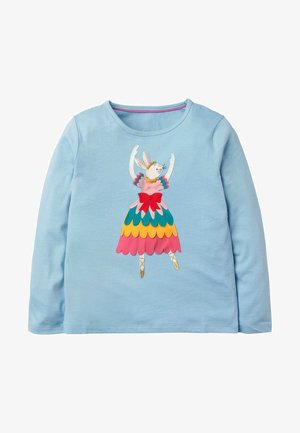 MIT BALLERINA-APPLIKATION - Long sleeved top - eisblau, hase