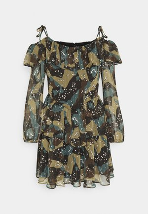VEDA DRESS - Korte jurk - olive