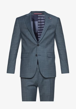 SLIM FIT FAKE SOLID SUIT - Kostym - blue