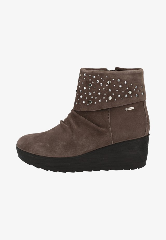 Wedge Ankle Boots - dark grey