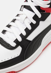 Puma - REBOUND JOY UNISEX - High-top trainers - white/black/high risk red - 5