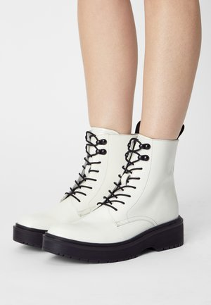 BRIA - Lace-up ankle boots - regular white