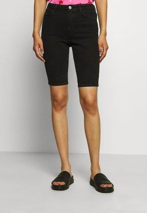 KATY - Denim shorts - black