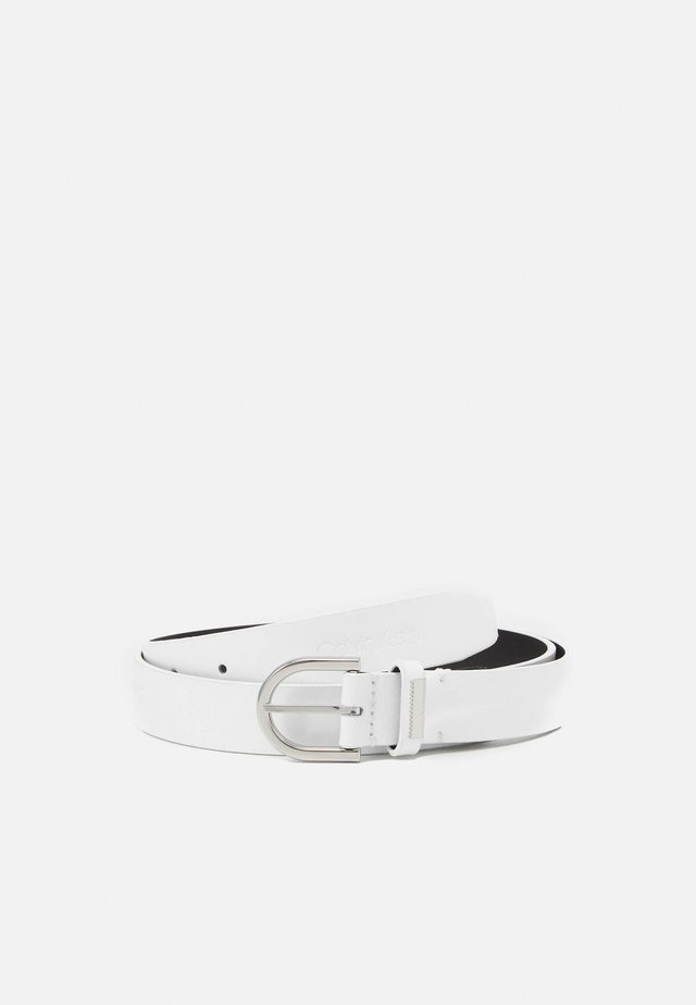 ROUND BELT - Cintura - white