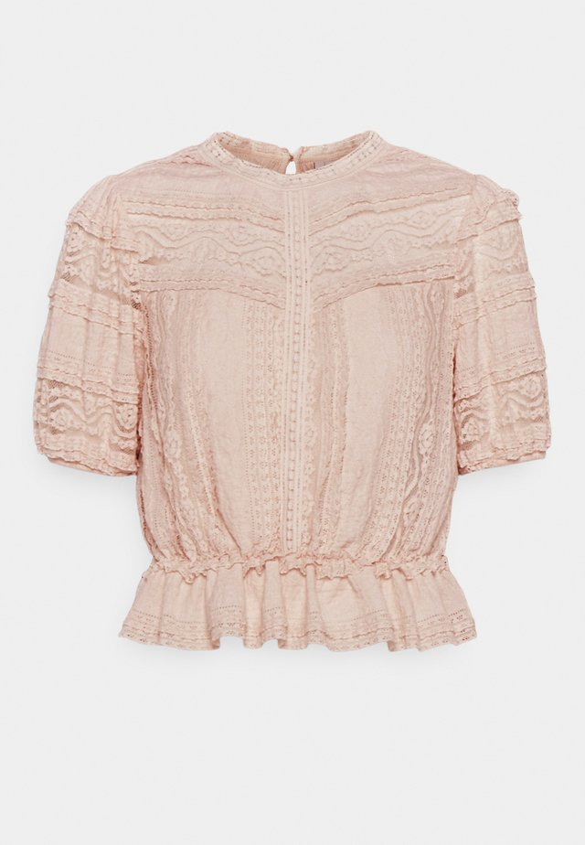 AMY PEPLUM BLOUSE - T-shirts print - blush