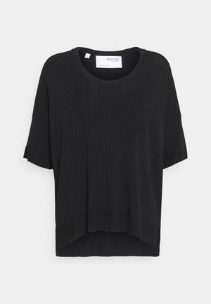 SLFWILMA UNECK - Basic T-shirt - black