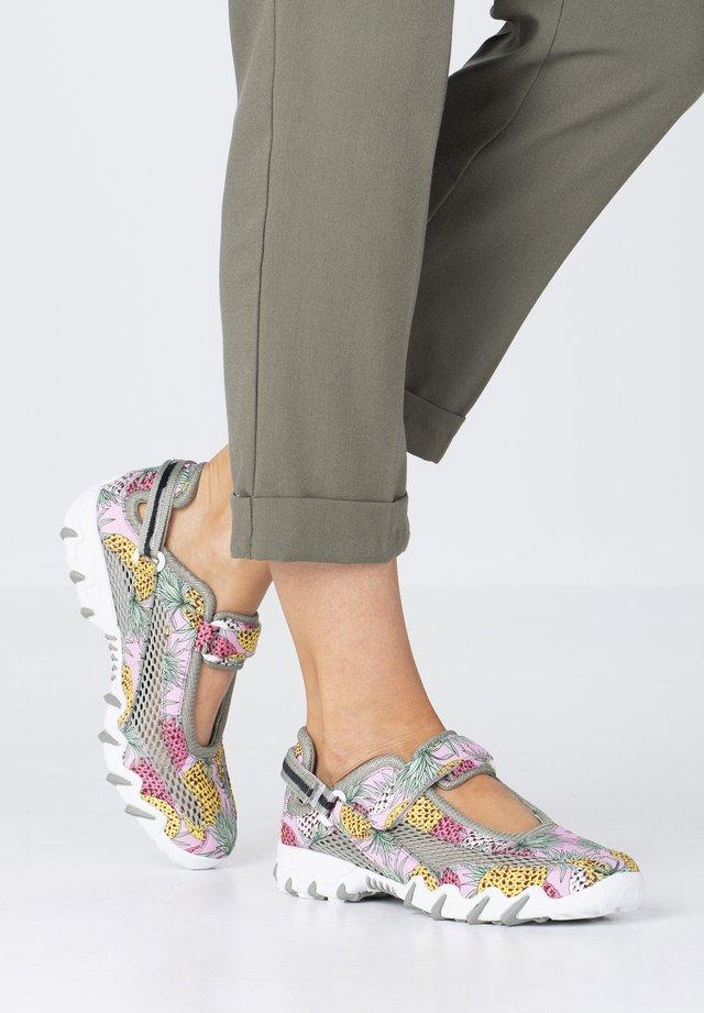 Ankle strap ballet pumps - multicol/lt militaire