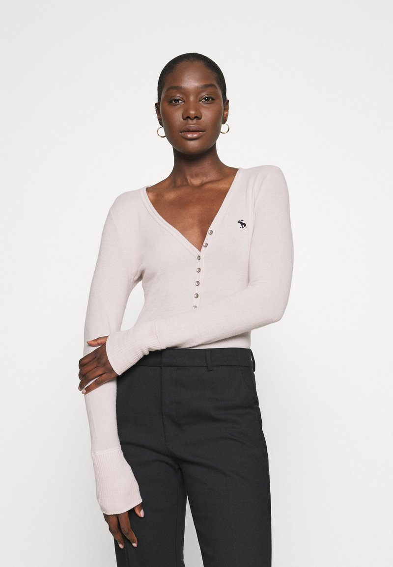 Abercrombie & Fitch - COZY HENLEY - Maglione - light pink