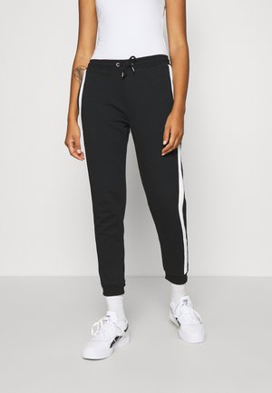 SIDE STRIPE JOGGERS - Tracksuit bottoms - black/white