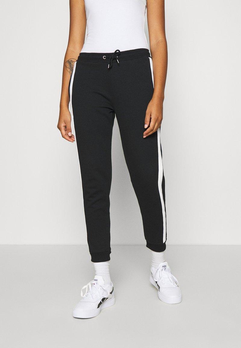 Even&Odd - Spodnie treningowe - black/white