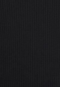 Vero Moda Petite - VMLAVENDER CALF DRESS - Vestido de punto - black - 2
