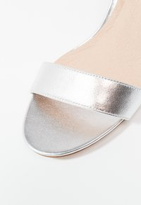Anna Field - LEATHER HEELED SANDALS - Sandals - silver - 2