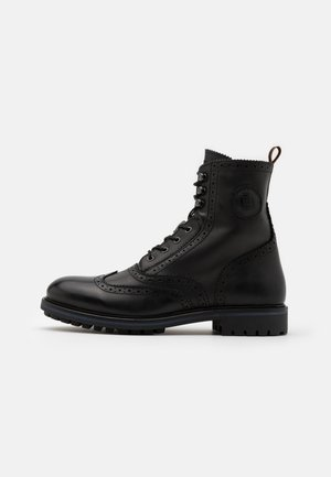 NATRON - Lace-up ankle boots - black
