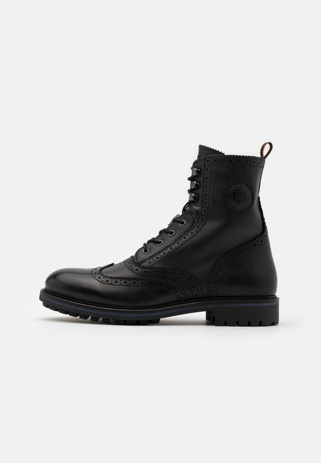 NATRON - Lace-up ankle boots - black