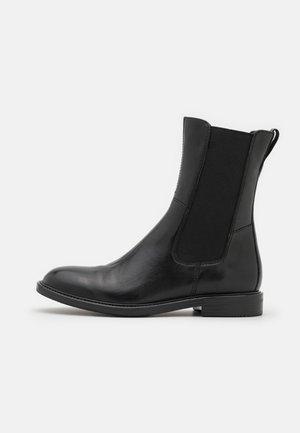 LEATHER  - Kotníkové boty - black