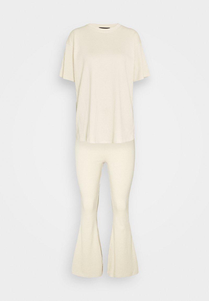 Missguided - FLARE OVERSIZED SET - Kalhoty - stone
