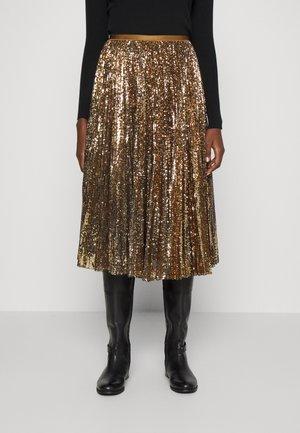 RESE MID FULL - Plisovaná sukně - gold