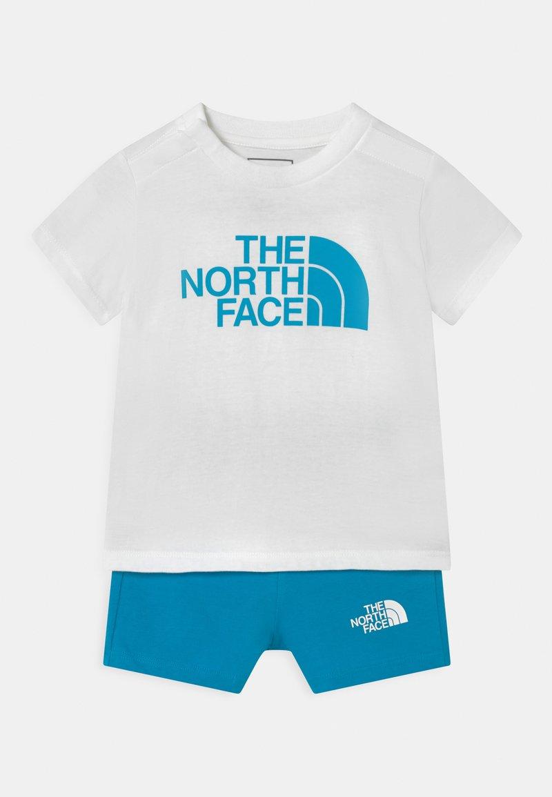 The North Face - INFANT SUMMER SET UNISEX - Print T-shirt - white/blue