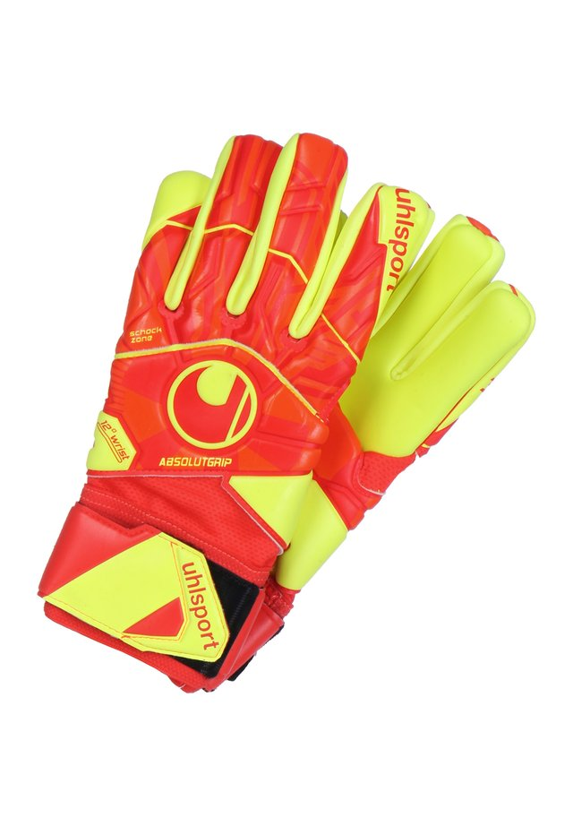 DYNAMIC IMPULSE ABSOLUTGRIP HN TORWARTHANDSCHUH HERREN - Gloves - red/neon yellow