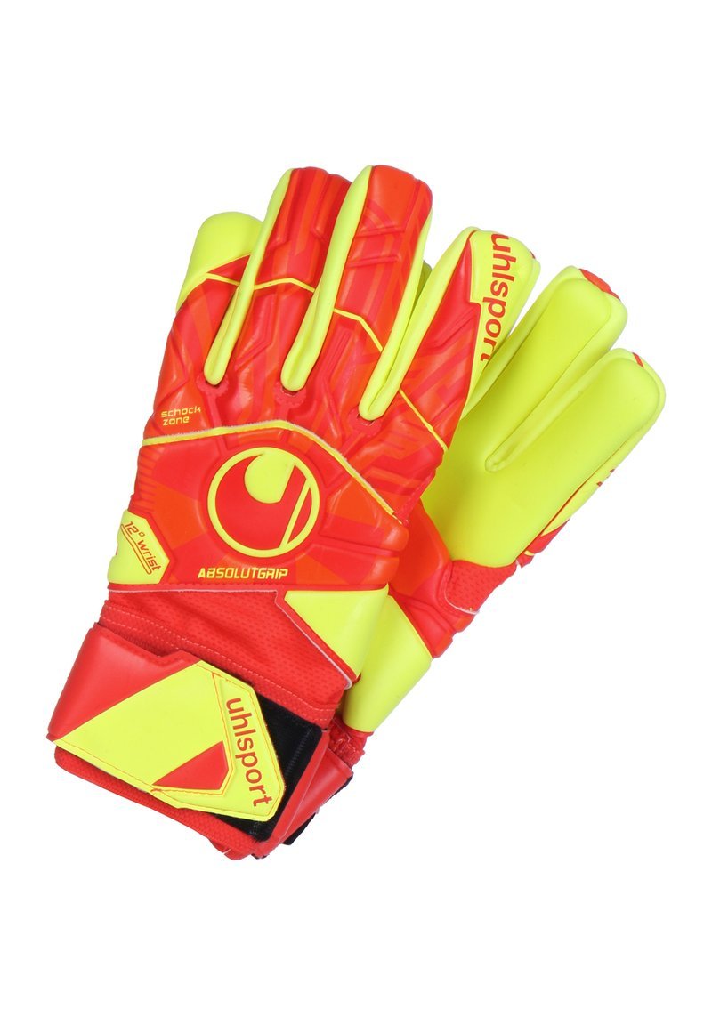 Uhlsport - DYNAMIC IMPULSE ABSOLUTGRIP HN TORWARTHANDSCHUH HERREN - Gloves - red/neon yellow