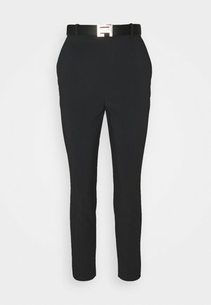 PANTS WITH BELT - Trousers - black