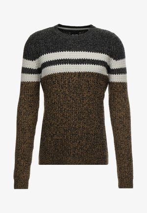 ONSLAZLO STRIPED CREW NECK - Svetr - kangaroo