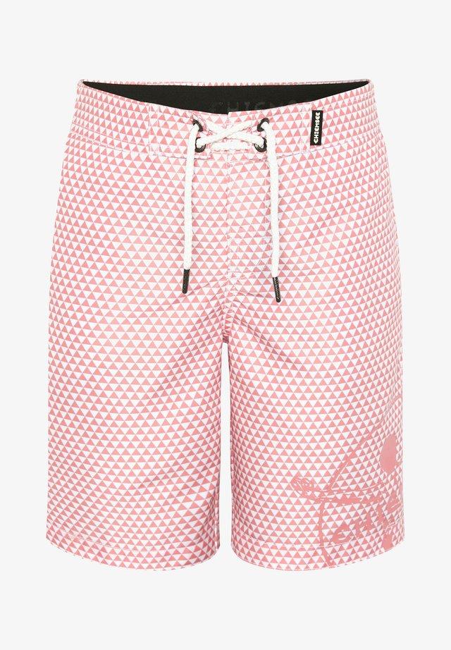 LAZY LEFT REGULAR FIT - Swimming shorts - pink/white str