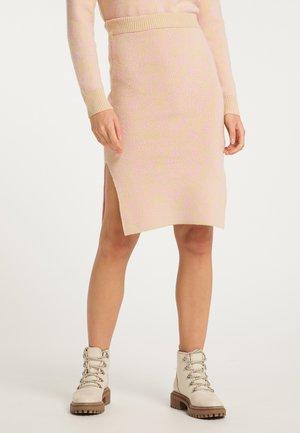 Pencil skirt - beige rosa