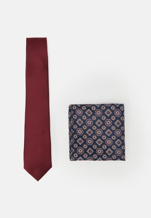 EPP AND GEO SET - Tie - burgundy